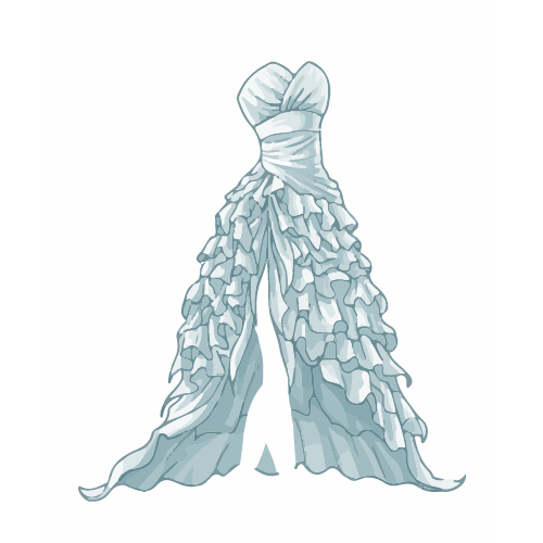 Cartoon evening dress fashion vector illustration 14 free ...