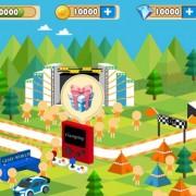 Cartoon mobile game interface psd material