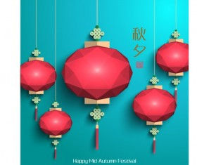 China Mid Autumn Festival creative vector material 01