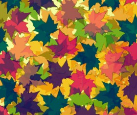 Colored autumn leaves vector backgrounds 03
