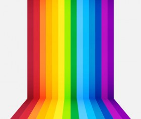 Colored paper stripes vector background 02