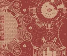 Creative architectural blueprint background vector 01