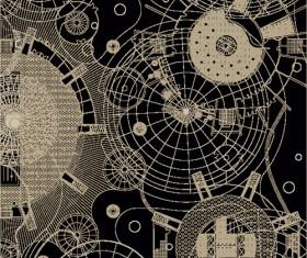Creative architectural blueprint background vector 03