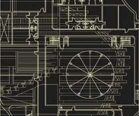 Creative architectural blueprint background vector 04