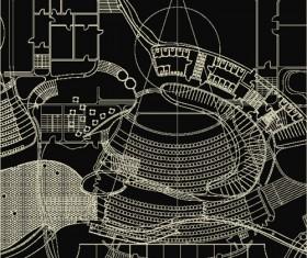 Creative architectural blueprint background vector 05