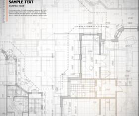 Creative architectural blueprint background vector 09