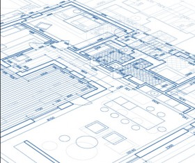 Creative architectural blueprint background vector 10