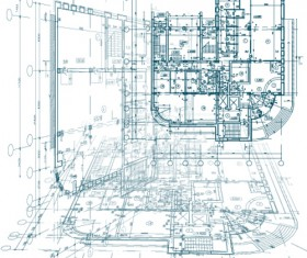Creative architectural blueprint background vector 11