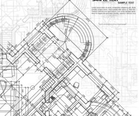 Creative architectural blueprint background vector 12