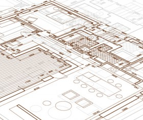 Creative architectural blueprint background vector 14
