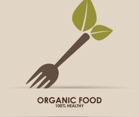Creative organic food logo vector 06