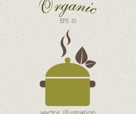 Creative organic food logo vector 07