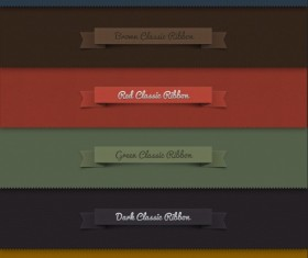 Creative ribbon labels psd graphics