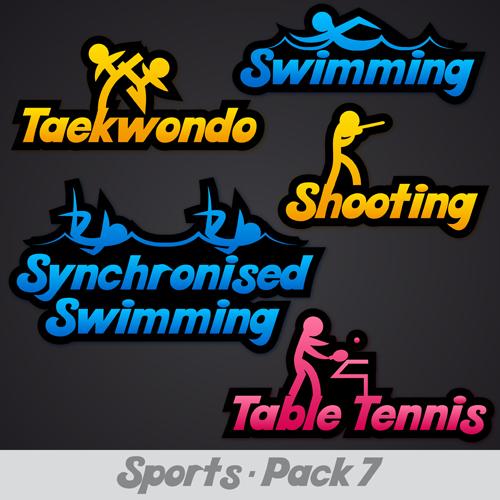 Creative Sports Logos Design 02 Vector Free Download