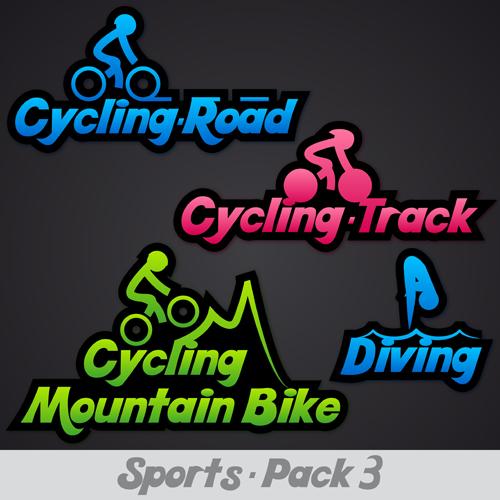 Creative Sports Logos Design 06 Vector Free Download