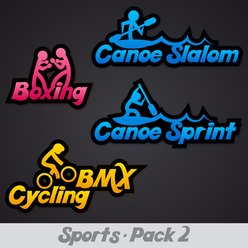 Creative Sports Logos Design 07 Vector Free Download