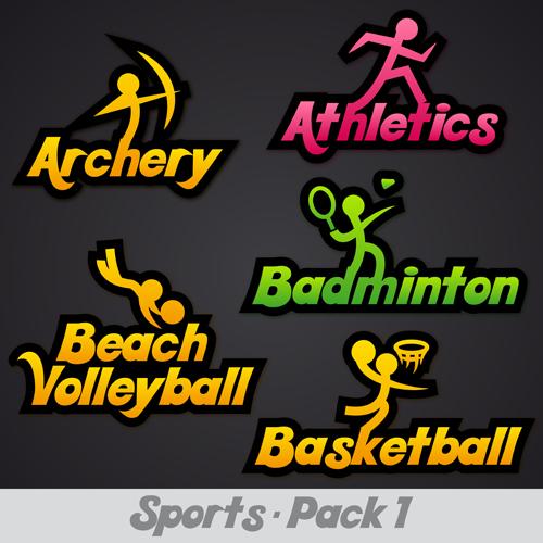 Creative Sports Logos Design 08 Vector Free Download