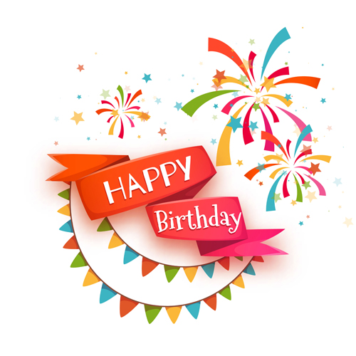 Cute happy birthday cards vector 01 Vector Birthday Vector Card – Vector Birthday Card