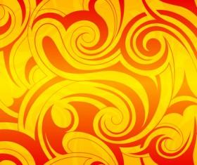Design element ornament floral background vector 05