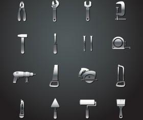 Different metal tools vectors material