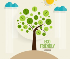 Eco friendly love nature vector template 01