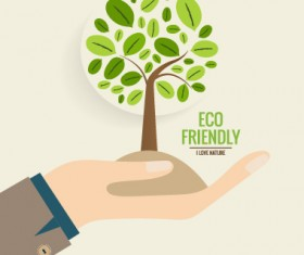 Eco friendly love nature vector template 02