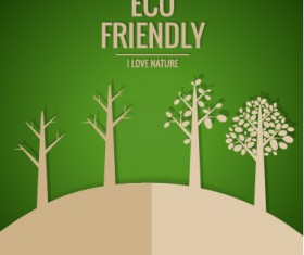 Eco friendly love nature vector template 03
