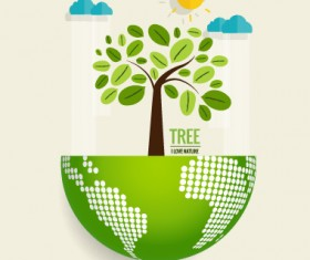 Eco friendly love nature vector template 05