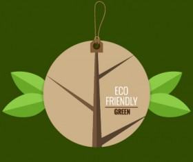 Eco friendly love nature vector template 06