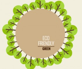 Eco friendly love nature vector template 07