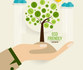 Eco friendly love nature vector template 09