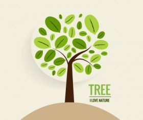 Eco friendly love nature vector template 12