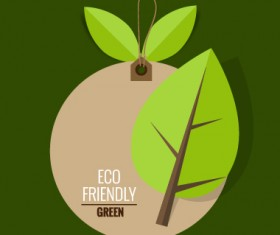 Eco friendly love nature vector template 13