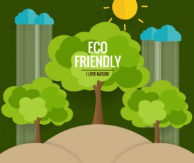 Eco friendly love nature vector template 14