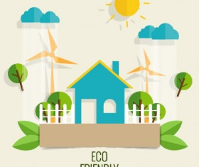 Eco friendly love nature vector template 15