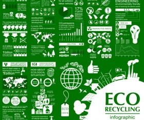 Eco recycling Infographic elements vector template 01