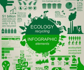 Eco recycling Infographic elements vector template 02