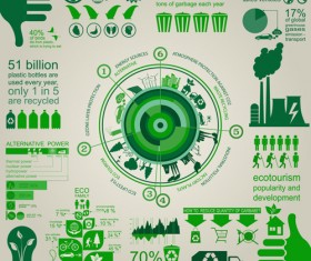 Eco recycling Infographic elements vector template 04