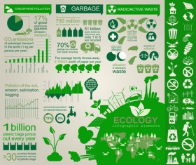 Eco recycling Infographic elements vector template 05