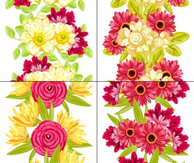 Elegance flowers pattern seamless vector material 02