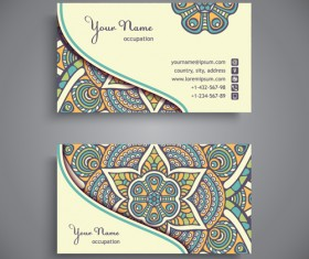 Ethnic decorative elements business card vector 14
