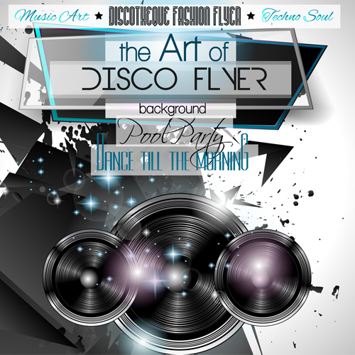 Fashion Club Disco Party Flyer Template Vector   Vector Cover