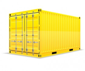 Freight container design vector 02