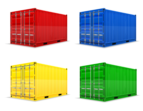 Freight container design vector 03