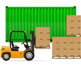 Freight transportation vector material 01