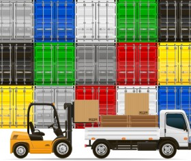 Freight transportation vector material 02