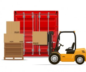 Freight transportation vector material 03