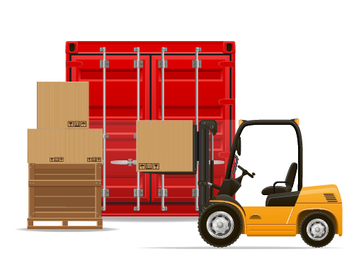 Freight transportation vector material 03