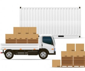 Freight transportation vector material 04