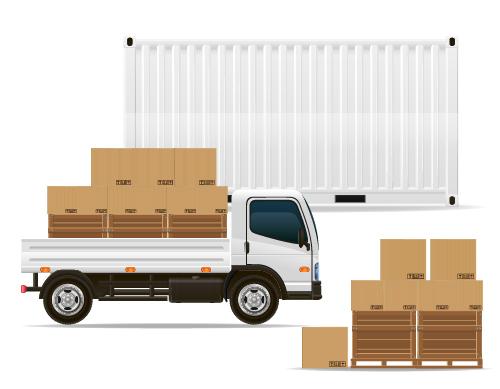 Freight transportation vector material 04